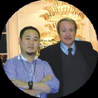 程一董事长与必发88客户端软饰设计大师Dell' Acqua合影