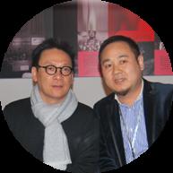 """程一董事长与""""中国家居软饰设计第一人"""" 梁志天(香港)合影"""