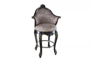 高端实木法式古典手工雕花吧椅