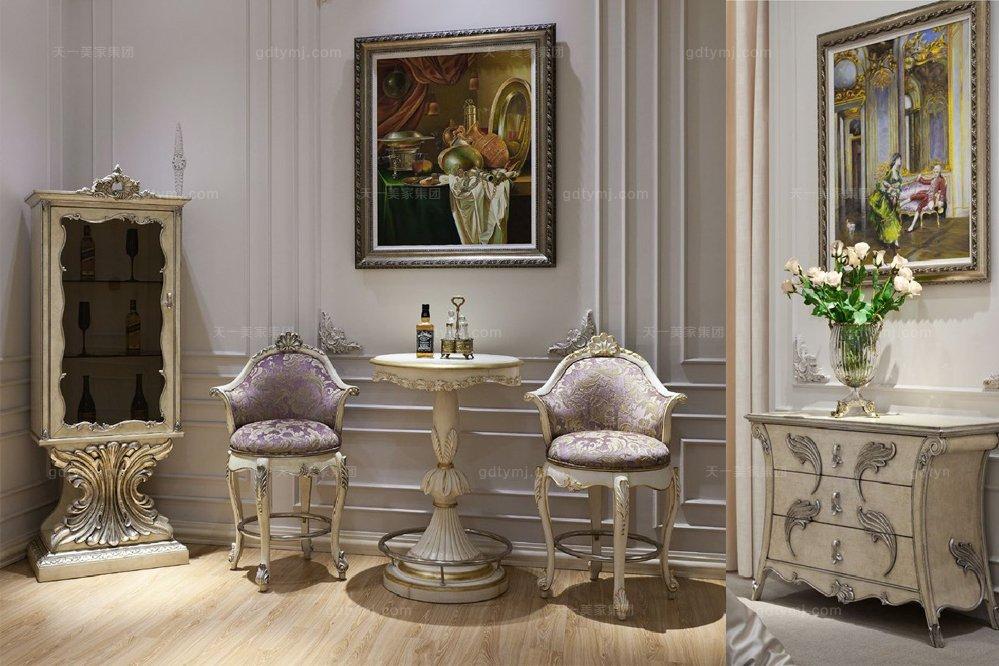 高端时尚法式古典咖啡桌