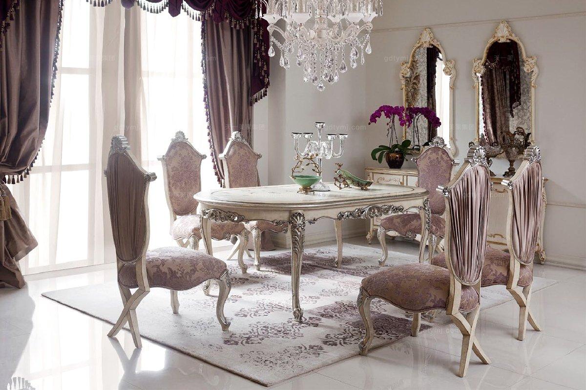 高端时尚法式雕花贴泊餐桌