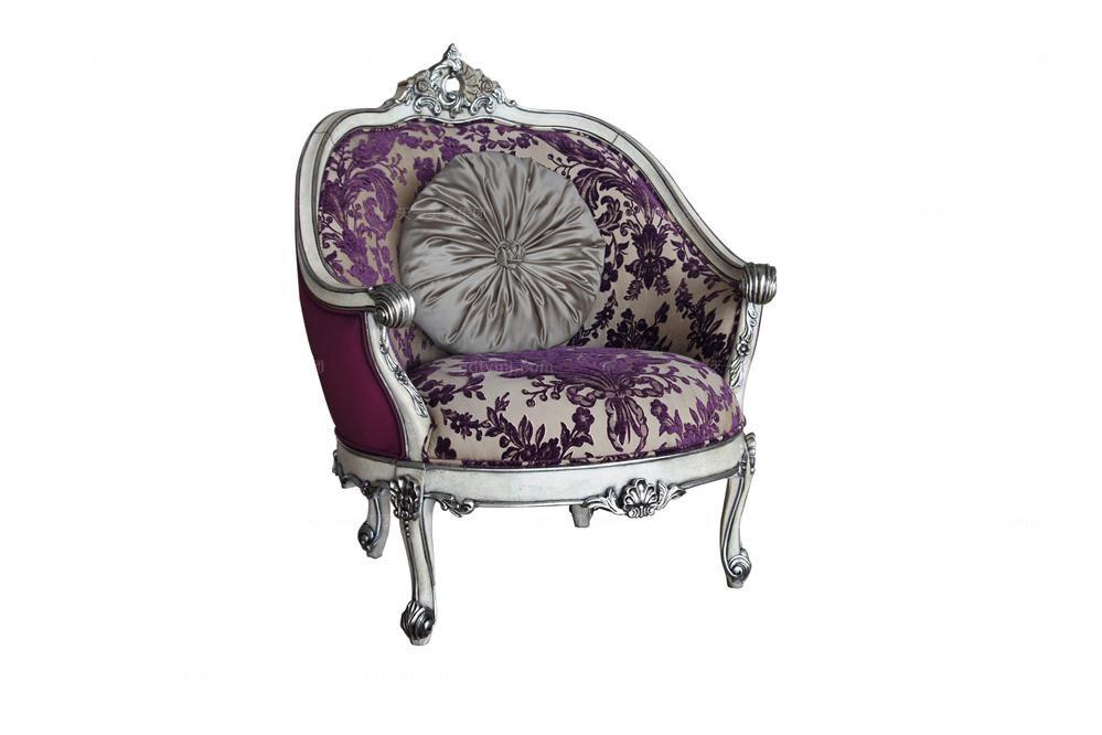 高端时尚法式雕刻休闲椅