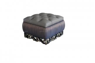 高端别墅法式雕花床尾凳
