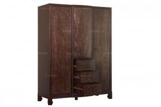 高端品牌美式三门衣柜