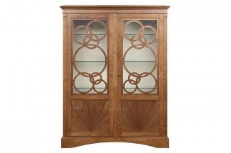 高端品牌美式原木色展示柜