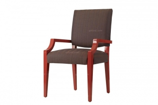 高端品牌美式布艺书椅