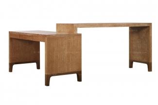 高档品牌美式原木色书桌
