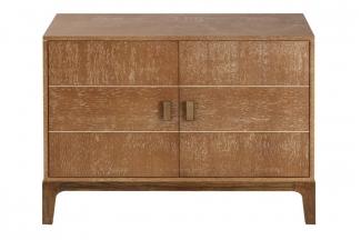 高端品牌美式原木色冰箱柜