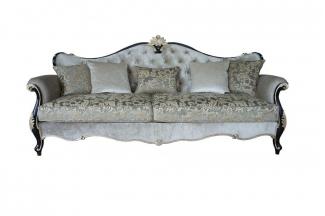高端别墅法式布艺三位沙发