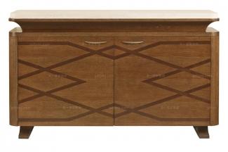 高端品牌美式原木色装饰柜