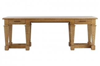 高档美式原木色书桌