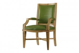 高端美式绿色真皮书椅