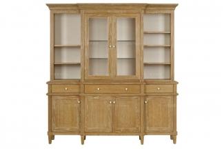 高端美式原木色展示柜
