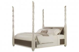 高档品牌美式白色亮光床