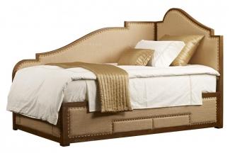 高端品牌美式黄色真皮儿童床(左)
