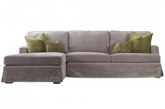 高端品牌美式灰色布艺转角沙发