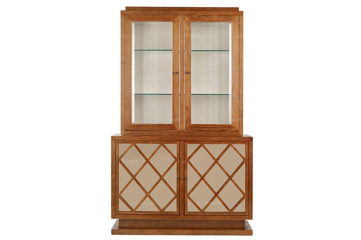 高档品牌美式原木色展示柜