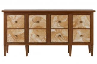高端品牌实木美式装饰柜