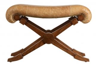 高端品牌美式真皮餐椅