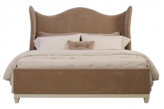 高端美式家具布艺软包大床