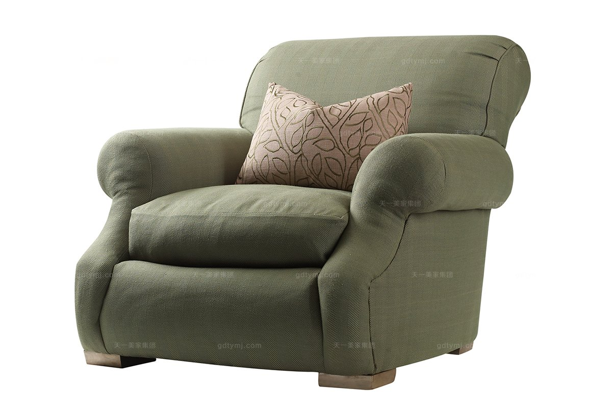 美式万博手机网页十大品牌美式布艺休闲椅