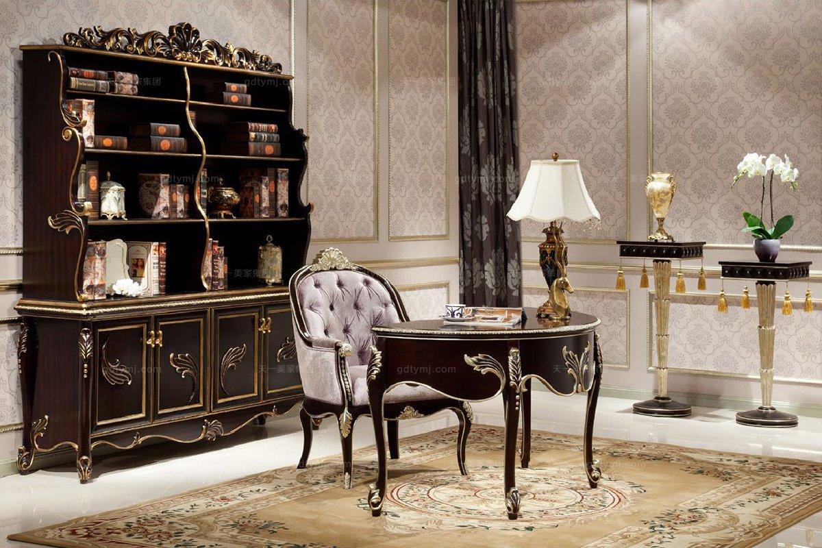 高端别墅法式雕花书桌