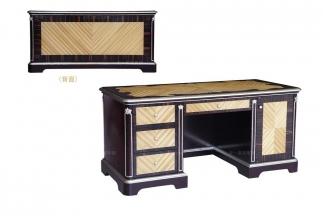 高端别墅法式露木色书桌
