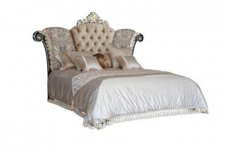 星级酒店客房家具高档法式人工雕花双人床