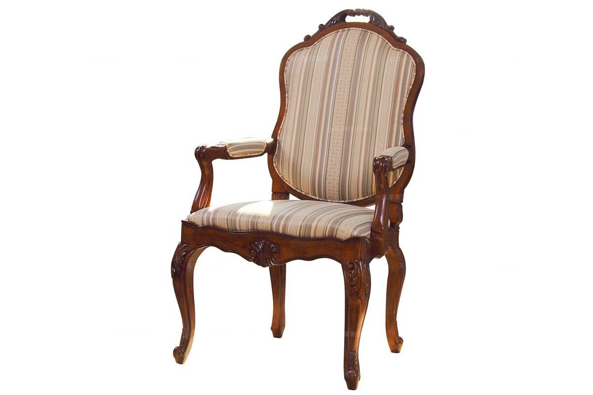 高端品牌美式扶手餐椅