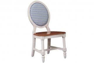 高端品牌美式白色书椅