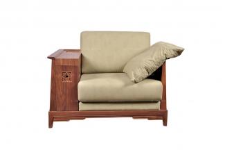 高端东南亚实木单位沙发