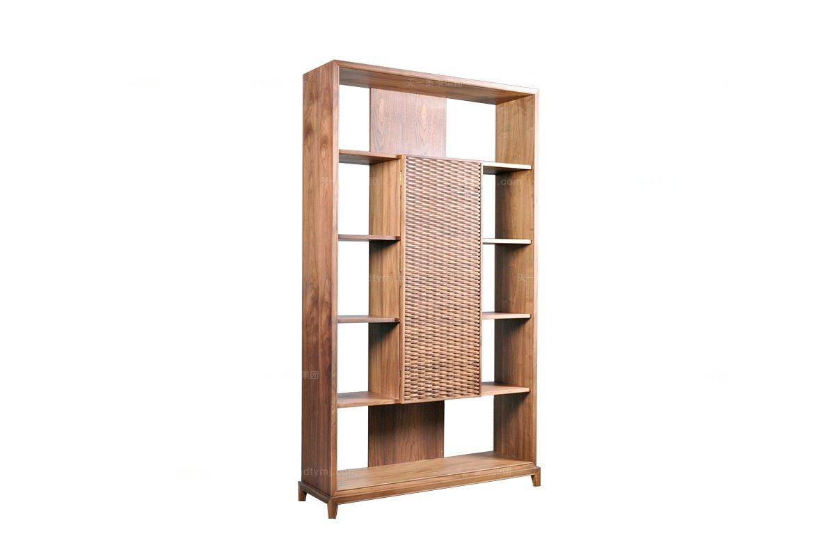 高端东南亚实木装饰书柜