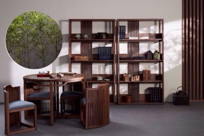 高端东南亚实木书柜