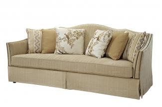 高端品牌美式布艺双位沙发