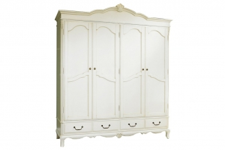 高端品牌美式白色衣柜