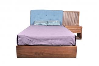 高端东南亚实木双人床