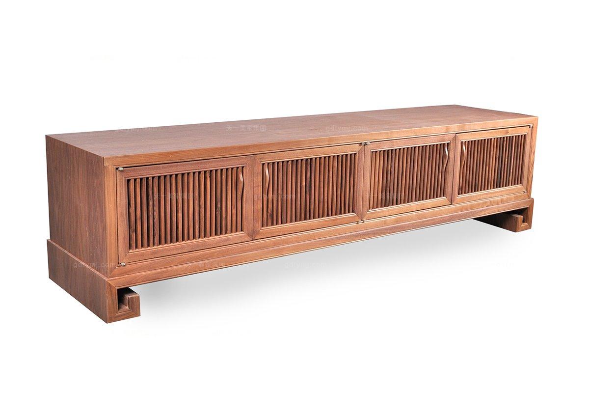 高端东南亚客厅实木家具电视柜