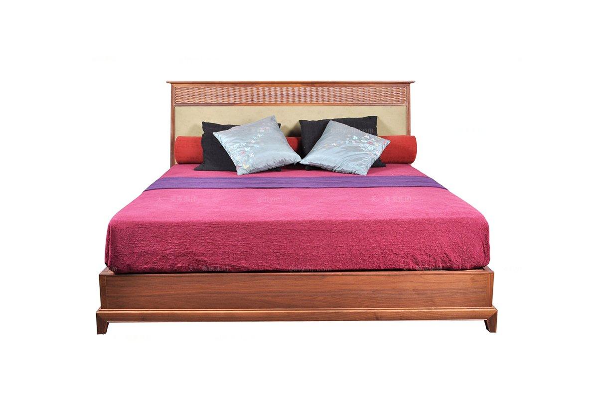 五星级酒店万博手机网页图片东南亚实木双人床