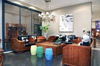 高档家具实木雕花双人中式实木沙发