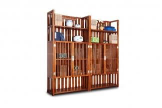 高端万博手机网页报价中式实木书柜