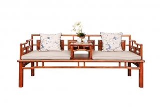 别墅私人会所家具专用中式实木罗汉床