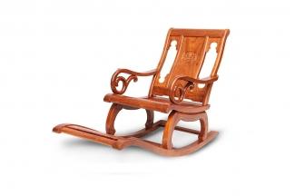高端红木万博手机网页中式摇椅