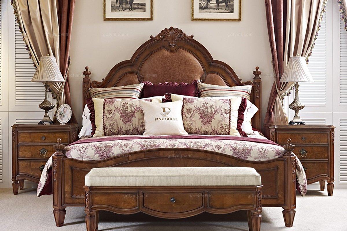 美式高端家具床头柜