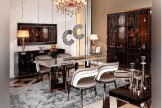 高档时尚家具后现代布艺餐椅