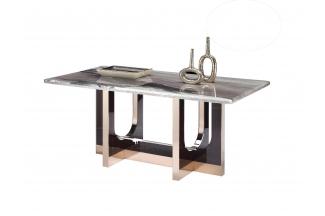 高端五金万博手机网页后现代山水紫石面餐桌