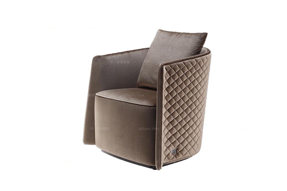 高端品牌后现代咖啡布艺休闲椅(小)