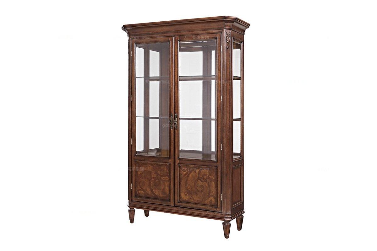 高端家具实木美式酒柜