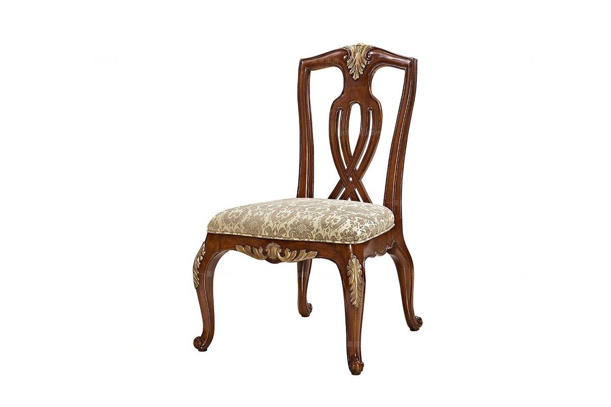 实木家具美式无扶手餐椅