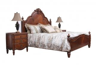 高端宁波别墅家具实木美式双人床