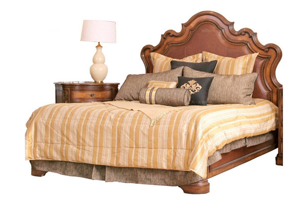 样板房家具价格高端别墅实木家具美式双人床